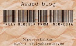 Award Perdana Dari Mbak Debhoy